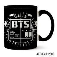 "Кружка ""BTS"" (черная; арт. 2682)"