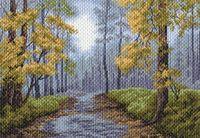"Канва с нанесенным рисунком ""После дождя"" (арт. 1514)"