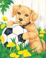 "Картина по номерам ""Щенок и мячик"" (300х400 мм; арт. PC3040002)"