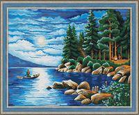 "Картина по номерам ""Ночь в лесу"" (400х500 мм)"