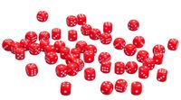 Кубик D6 (красный; арт. zar-red)