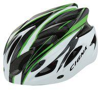 """Шлем велосипедный """"WT-012"""" (чёрный/зелёный/белый)"""