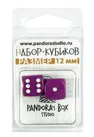 """Набор кубиков D6 """"Опак"""" (12 мм; 2 шт.; фиолетовый)"""