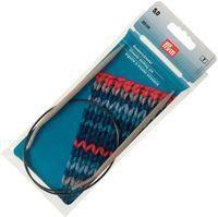 Спицы круговые для вязания (алюминий; 5 мм; 40 см)