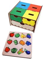 """Деревянная игрушка """"Комодик. Фрукты, овощи, ягоды"""""""