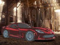 """Канва с нанесенным рисунком """"Красный Dodge"""""""