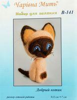 """Набор для валяния из шерсти """"Добрый котик"""""""