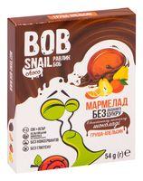 """Мармелад """"Bob Snail. Груша-апельсин в бельгийском молочном шоколаде"""" (54 г)"""