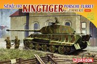 "Немецкий танк ""Sd.Kfz.182 Kingtiger Porsche Turret w/Zimmerit"" (масштаб: 1/72)"