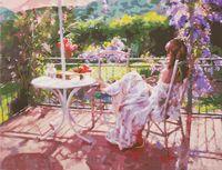 "Картина по номерам ""Утро на террасе"" (400х500 мм)"
