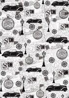"Пленка-оверлей ""Ретро. Автомобили и фонари"" (210х300 мм)"