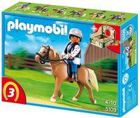 """Игровой набор  """"Лошадь Хафлингер со стойлом"""""""