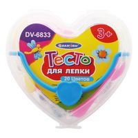 """Тесто для лепки """"Darvish. Сердце"""" (20 цветов)"""