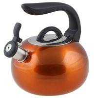 Чайник металлический со свистком (2,7 л; оранжевый металлик)