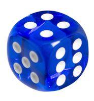 "Кубик D6 ""Прозрачный"" (синий)"