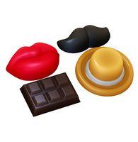 """Форма для изготовления мыла """"Декор. Усы, губы, шоколадка"""""""