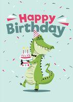"""Открытка """"Happy Birthday!"""""""
