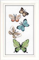 """Вышивка крестом """"Бабочки"""" (170х80 мм)"""
