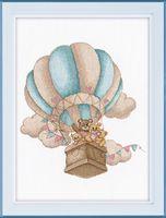 "Вышивка крестом ""На воздушном шаре"" (220x240 мм)"
