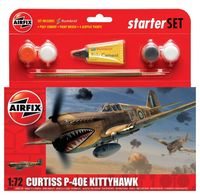 """Начальный набор """"Истребитель Curtiss P-40E Kittyhawk"""" (масштаб: 1/72)"""