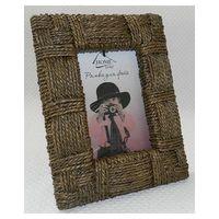 Рамка для фото деревянная с плетеной отделкой (15х20 см, арт.YPX2114-3)