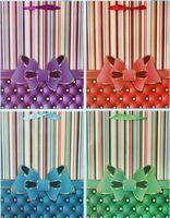 """Пакет бумажный подарочный """"Бант с блестками"""" (в ассортименте; 26x32x10 см; арт. МС-3023)"""