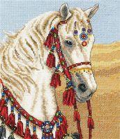 """Вышивка крестом """"Арабская лошадь"""" (195х165 мм)"""
