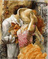 "Картина по номерам ""Осенний поцелуй"" (400х500 мм; цветной холст)"
