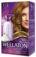 "Краска-мусс для волос ""Wellaton"" (тон: 7/3, лесной орех)"