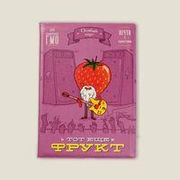 "Обложка на паспорт ""Тот еще фрукт"" (Клубника)"