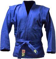 Куртка для самбо JS-302 (р. 4/170; синяя)