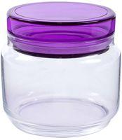 """Банка для сыпучих продуктов стеклянная """"Colorlicious Purple"""" (500 мл)"""