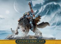 "Набор миниатюр ""Warhammer 40.000. Finecast: Wolf Lord On Thunderwolf"" (53-41)"