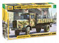 Немецкий тяжелый грузовик с деревянной кабиной L-4500 (масштаб: 1/35)