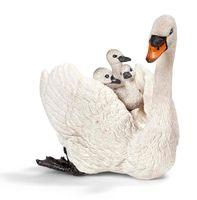 """Фигурка """"Белый лебедь с птенцами"""" (7 см)"""