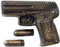 """Форма для изготовления мыла """"Пистолет Беретта с пулями"""""""