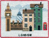 """Вышивка крестом """"Лондон"""" (90х70 мм; на магните)"""