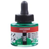 """Акриловые чернила """"Amsterdam Ink"""" (30 мл; изумрудные)"""