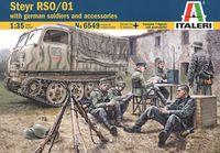 "Сборная модель ""Тягач Steyr RSO/01 с фигурками немецких солдат"" (масштаб: 1/35)"
