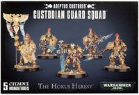 Warhammer 40.000. Adeptus Custodes. Custodian Guard Squad (01-07)