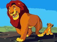 "Картина по номерам ""Король Лев"" (300х400 мм; арт. PC3040050)"