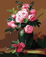 "Картина по номерам ""Ваза с цветами"" (400x500 мм; арт. MG174)"