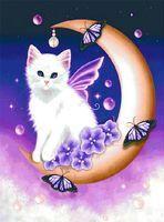 "Алмазная вышивка-мозаика ""Белый кот"" (400х500 мм; арт. 7707892)"