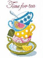 """Вышивка крестом """"Время пить чай"""" (200х260 мм)"""