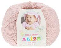 "Пряжа ""ALIZE. Baby Wool №161"" (50 г; 165 м; пудра)"