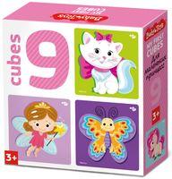 """Кубики """"Для маленьких принцесс"""" (9 шт.)"""