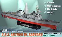 "Американский эсминец ""U.S.S. Arthur W. Radford Aemss Destroyer DDG-968"" (масштаб: 1/350)"