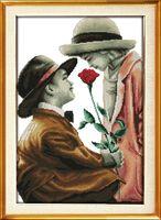 """Вышивка крестом """"Роза для леди"""" (300x450 мм)"""