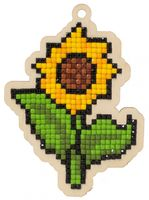 "Алмазная вышивка-мозаика ""Брелок. Солнечный цветок"" (70х97 мм)"