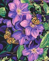 "Картина по номерам ""Цветы и бабочки"" (400х500 мм)"
